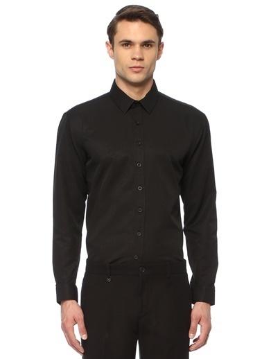George Hogg Erkek 7004611 Slim Fit Gömlek Siyah